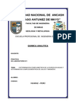 Informe de Laboratorio de Quimica Analitica Nº 16
