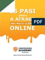 15 Pasi Pentru a Atrage Clienti Online