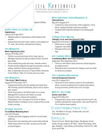 Professional Resume for LinkedIn