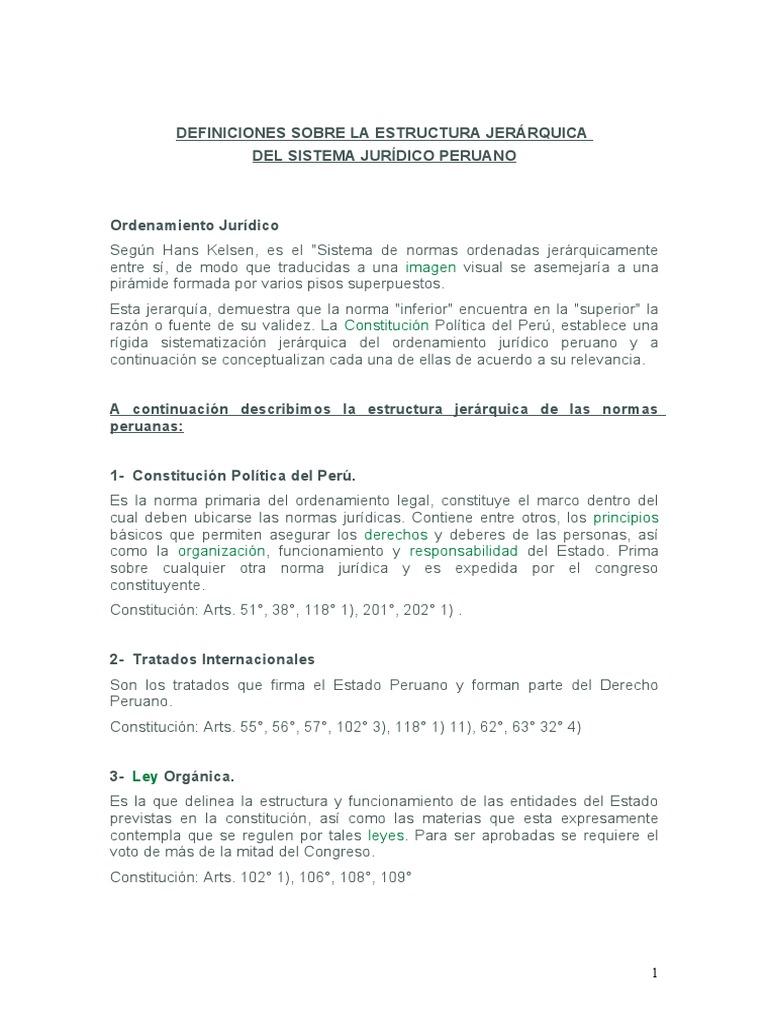 Estructura Jerarquica De La Ley Legislación Documentos