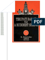 Tirupati Balaji was a Buddhist Shrine