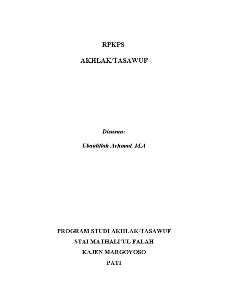 Buku Akhlak Tasawuf Pdf