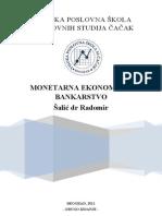 Monetarna Ekonomija i Bankarstvo 2012