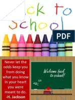 Back to School for Kids and Teachers