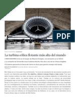 Turbina Eólica Flotante Más Alta Del Mundo