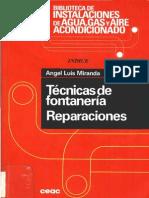 Técnicas de Fontanería. Reparaciones - Ceac