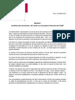 NR Audit Financier ADVOLIS 8 Juillet 2014