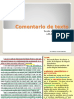 Comentario de Texto Selectividad 2013