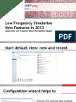 Low Freq Simulation 2013