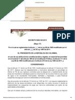 Decreto 0953 de 2013 Compra de Predios Areas Estrategicas