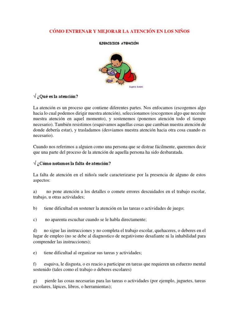 Cómo Entrenar y Mejorar La Atención en Los Niños