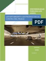 Informe de Levantamiento Geotecnico-corona Del Fraile