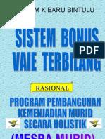 Sistem Bonus Vaie Terbilang