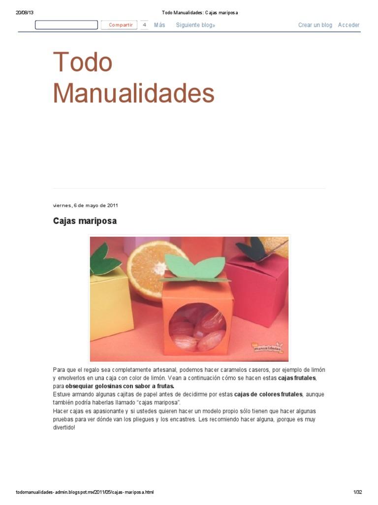 Lujo Plantilla De Caja De Mariposa Motivo - Colección De Plantillas ...