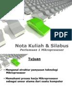 Pertemuan1-Nota Kuliah & Silabus Mikroprosesor