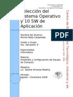 Selección del Sistema Operativo