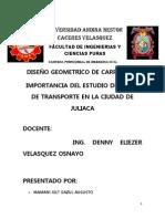 Importancia Del Estudio de Rutas de Transporte en La Ciudad de Juliaca
