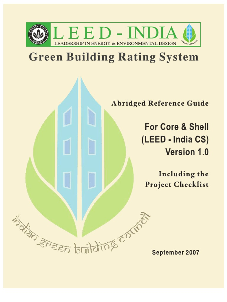 Leed India Cs As On 23 4 08 Leadership In Energy And Environmental