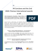 Press Release - The 4th HR Conclave and the 2nd DMA-Thomas International Awards in HR
