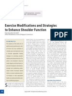 Shoulder Function, Exercise Modifications, Strategies for Trainers (NSCA 2005)