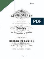 Paganini - 3 Airs Varies on the 4th String for Violin and Piano VLN