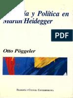 Poggele, Otto - Filosofia y Politica en Heidegger