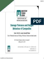 Damage Tolerance and Fatigue Behaviour of Composites