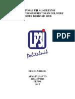 Sistem Informasi Restoran Delivery Order Berbasis Web