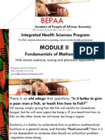 BEPAA-Integrated Health Sciences (IHS) Curriculum, Fundamentals of Mathematics | Student Version