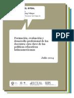Formación, evaluación y desarrollo profesional de los docentes