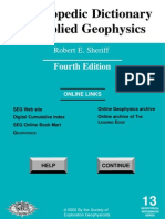 169059133 Applied Geophysics Encyclopedic Dictionary