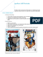superhero self-portraits lesson plan