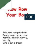 Row Row Your Boat