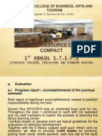 1st Annual Steps Library Dept Report