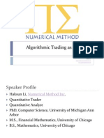 Algorithmic Trading as a Science