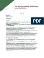 El Impacto de La Implementación Tecnológica en La Administración Pública