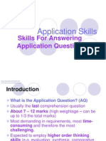 Types of Application Questions (AQ)