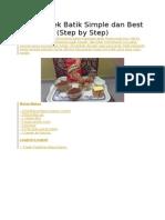 Resepi Kek Batik Simple Dan Best