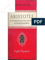 Werner Jaeger Aristotle Fundamentals of the History of His Development 1968