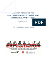 Prevent People Trafficking Conference Report 2014