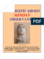 The Truth About SUNDAY Observance
