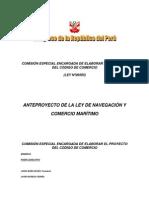 Anteproyecto de La Ley d Enavegacion y Comercio Maritimo