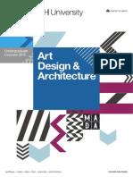 Art Design & Architecture - Undergraduate Courses 2015