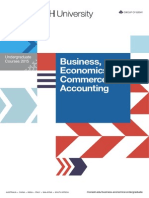 Business, Economics, Commerce and Accounting - Undergraduate Courses 2015