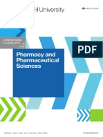 Pharmacy and Pharmaceutical Sciences - Undergraduate Courses 2015