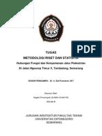 Kerangka Hubungan Fungsi dan Kenyamanan Jalur Pedestrian Di Jalan Ngesrep Timur V, Tembalang, Semarang