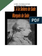 Marques de Sade - Carta 19. a La Señora de Sade