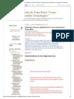 Analisis del texto de Tony Bates _Como gestionar el cambio Tecnologico__ Liderazgo,visionn y planificacion en una organizacion Posfordista.pdf
