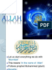 Knowing Allah