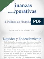 2. Politica de Financiamiento